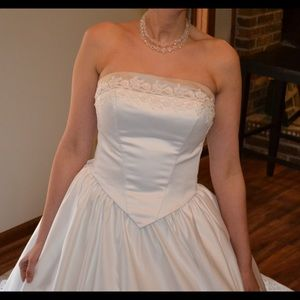 💋Sexy corset princesses cut wedding dress 👰